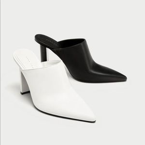 Zara two tone geometric high heels